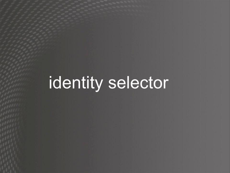 identity selector