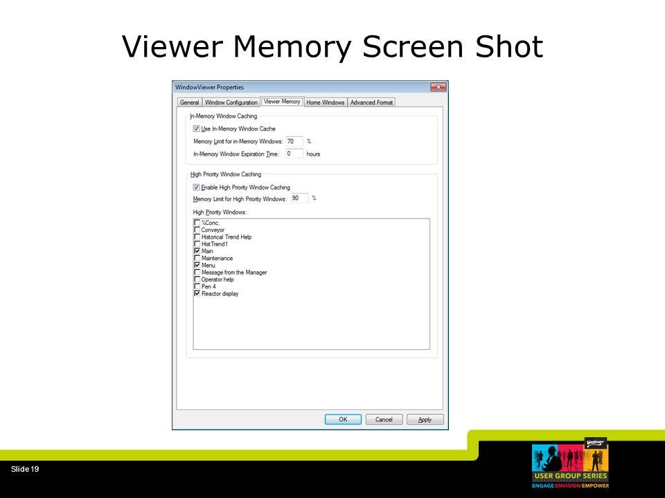 Slide 19 Viewer Memory Screen Shot