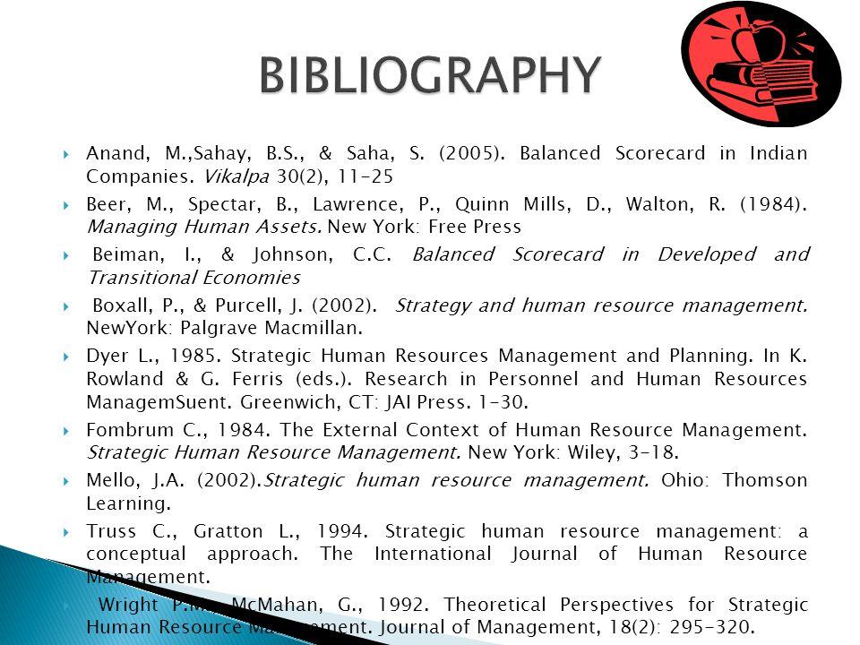 Anand, M.,Sahay, B.S., & Saha, S. (2005). Balanced Scorecard in Indian Companies.