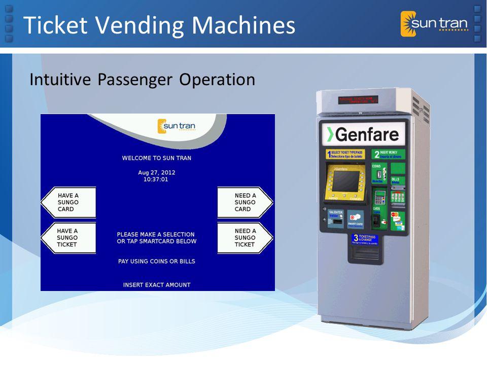Ticket Vending Machines Intuitive Passenger Operation