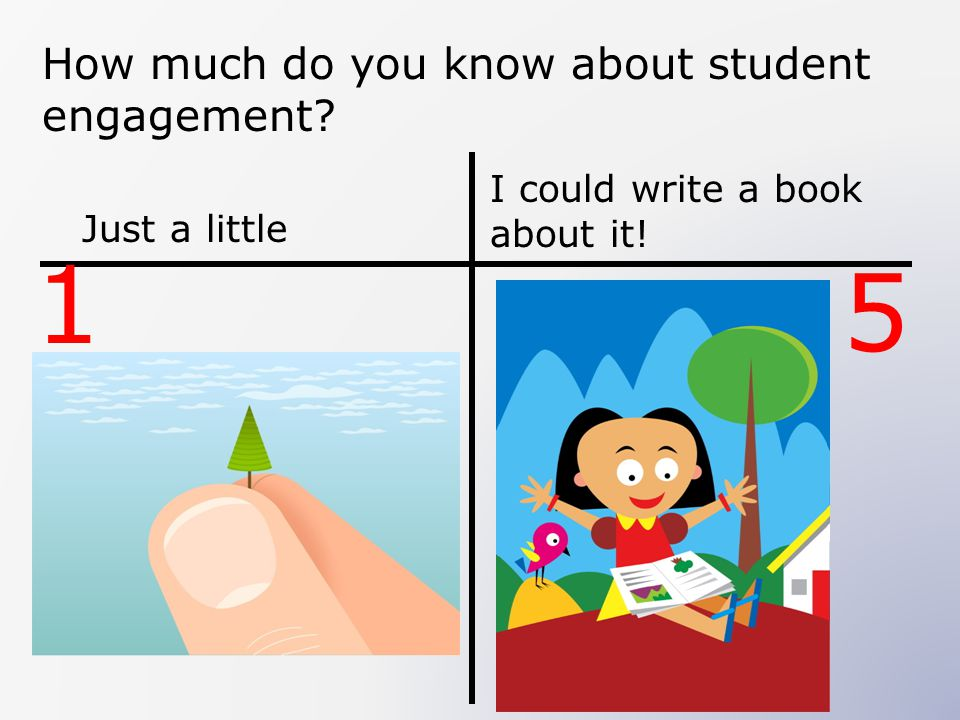 How much do you know about student engagement? Just a little I could write a book about it! 1 5