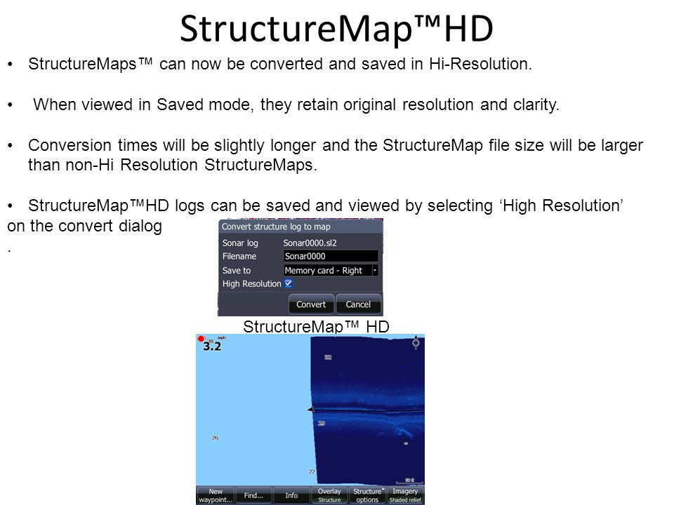 StructureMaps can now be converted and saved in Hi-Resolution.