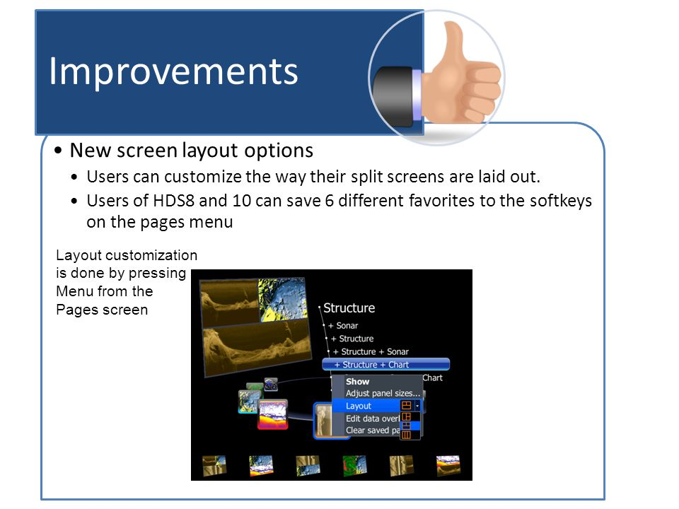 New screen layout options Users can customize the way their split screens are laid out.