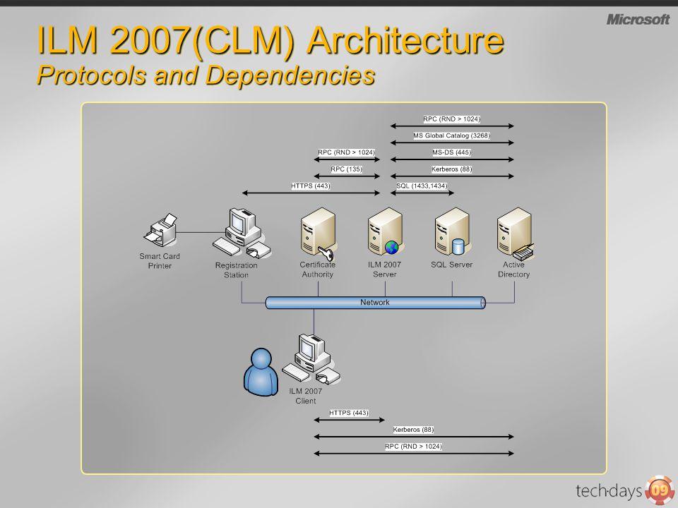 ILM 2007(CLM) Architecture Protocols and Dependencies