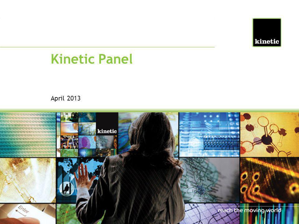 Kinetic Panel April 2013