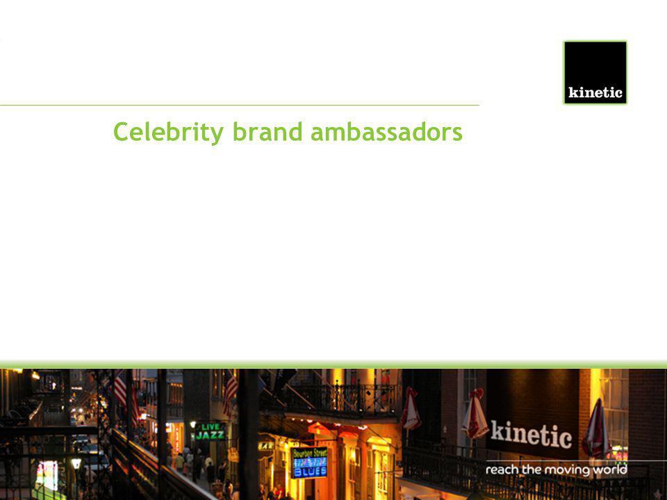 Celebrity brand ambassadors