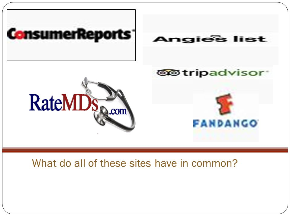 What do all of these sites have in common?