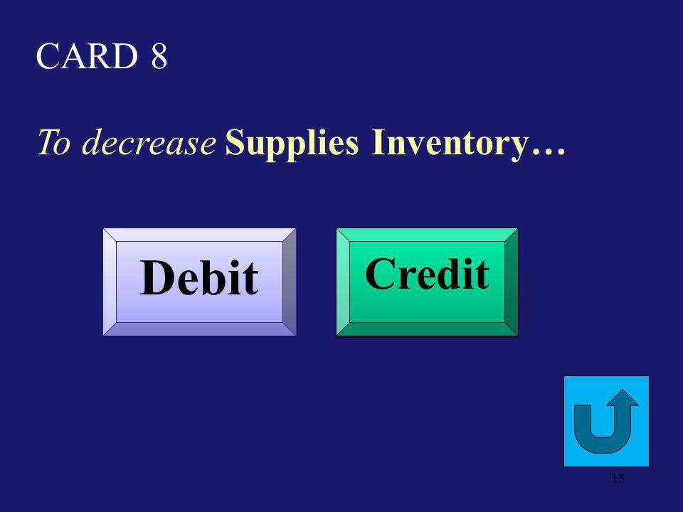 CARD 3 To decrease Unearned Consulting Revenue Debit Credit 14