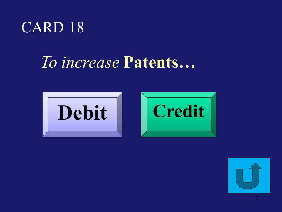 CARD 13 To increase Utilities Expense… Debit Credit 16
