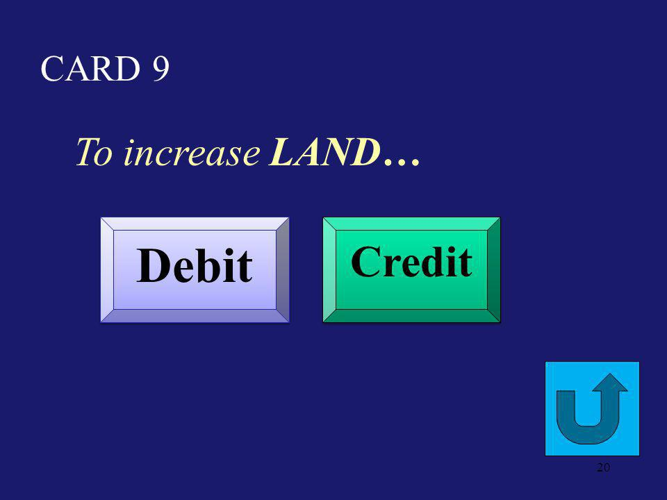 CARD 4 To increase Short Term Investments Debit Credit 19