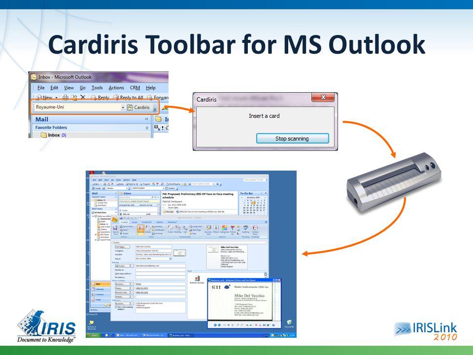 Cardiris Toolbar for MS Outlook