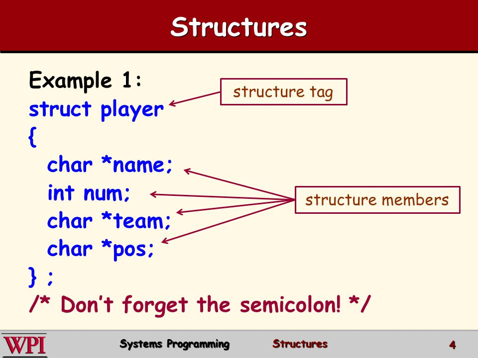 10.5 Using Structures with Functions Passing structures to functions – –The entire structure can be passed.