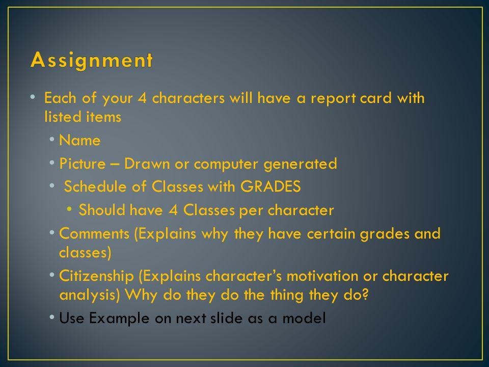 Course Teacher Grade Citizenship: Comments: