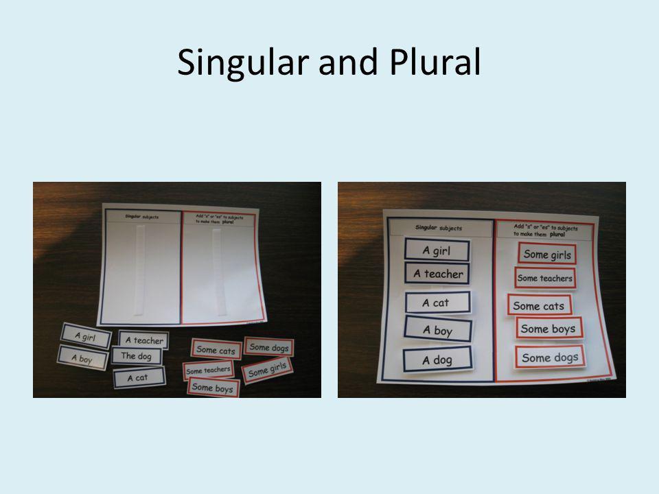 Singular and Plural