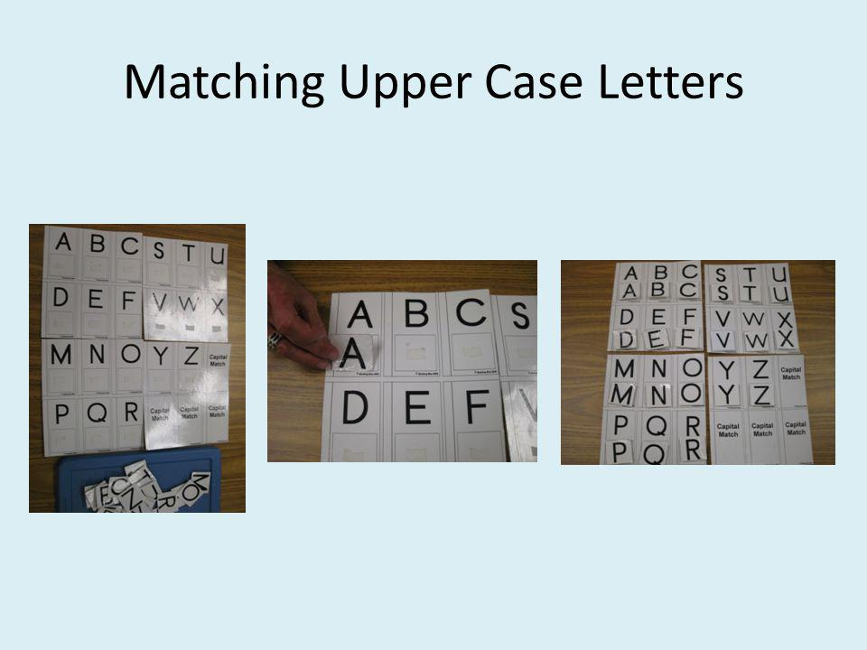 Matching Upper Case Letters