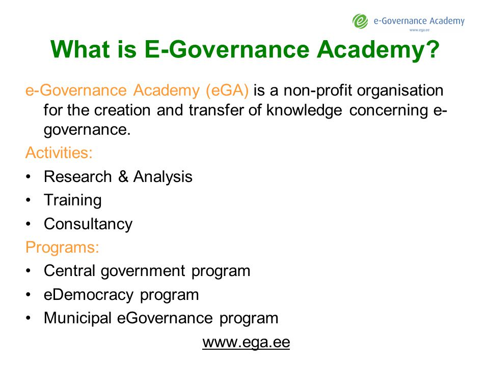 What is E-Governance Academy.