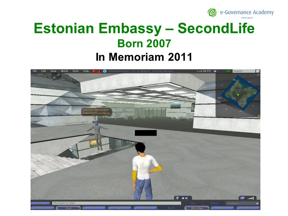 Estonian Embassy – SecondLife Born 2007 In Memoriam 2011