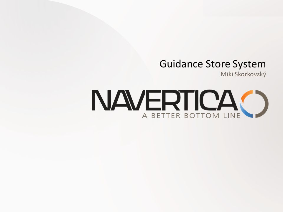 Guidance Store System Miki Skorkovský