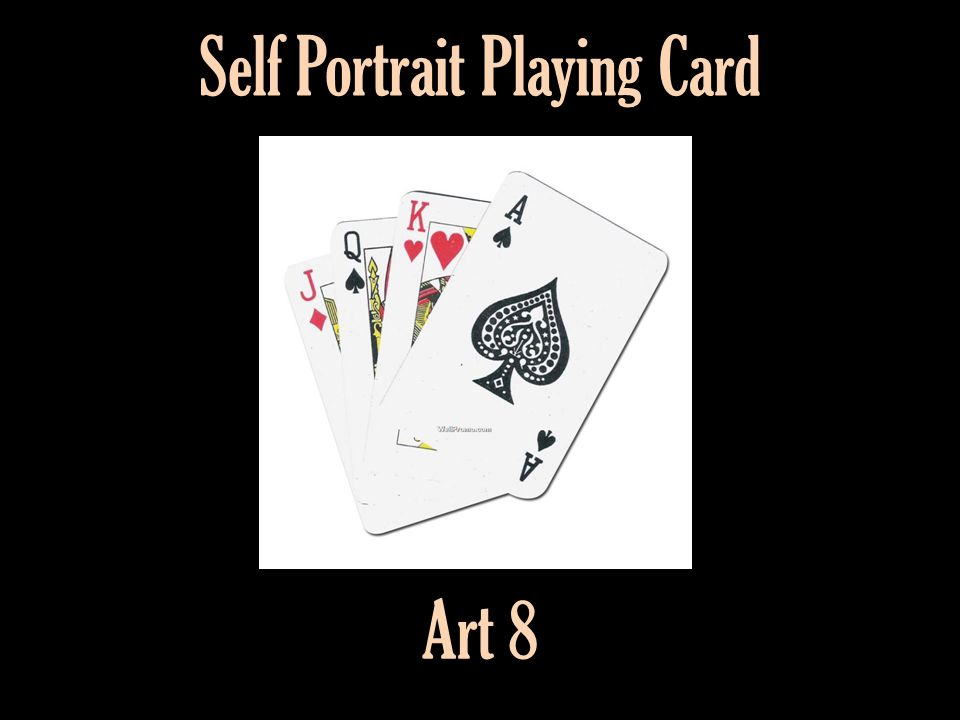 Self Portrait Playing Card Art 8