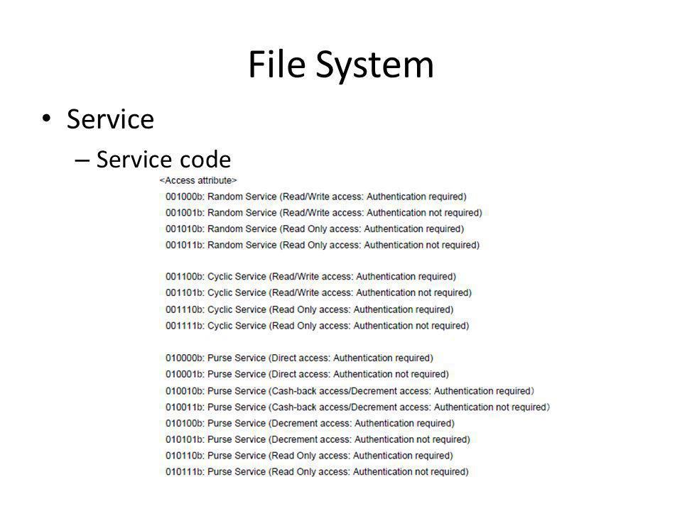 File System Service – Service code