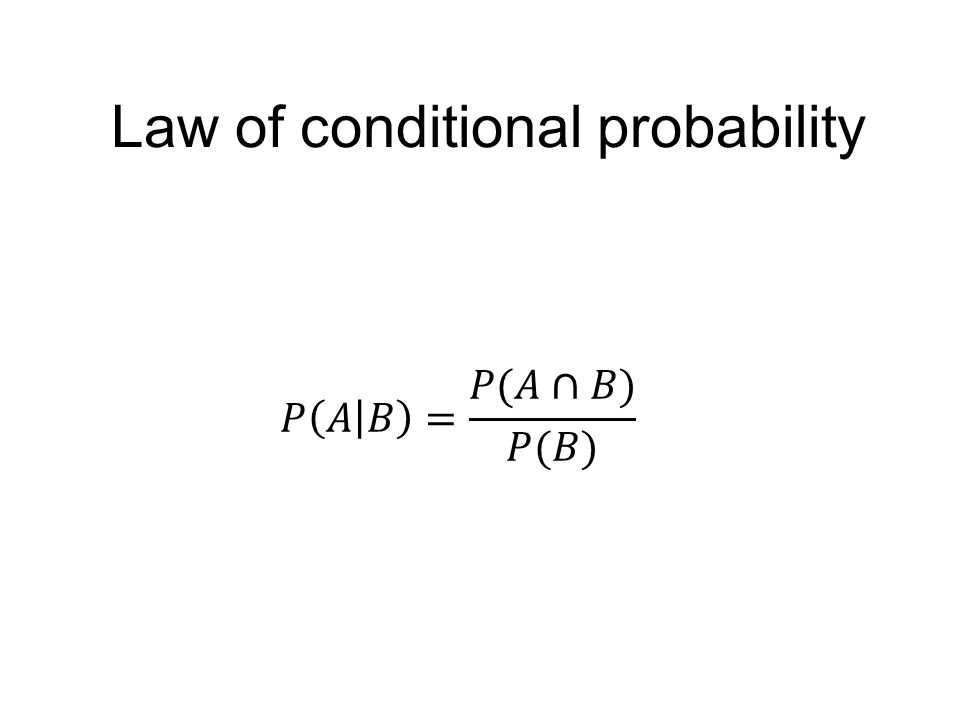 Law of conditional probability