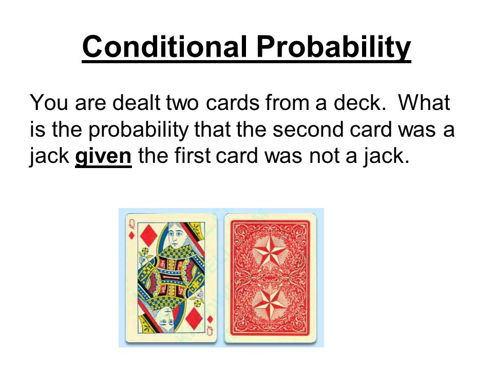 Conditional Probability You are dealt two cards from a deck.