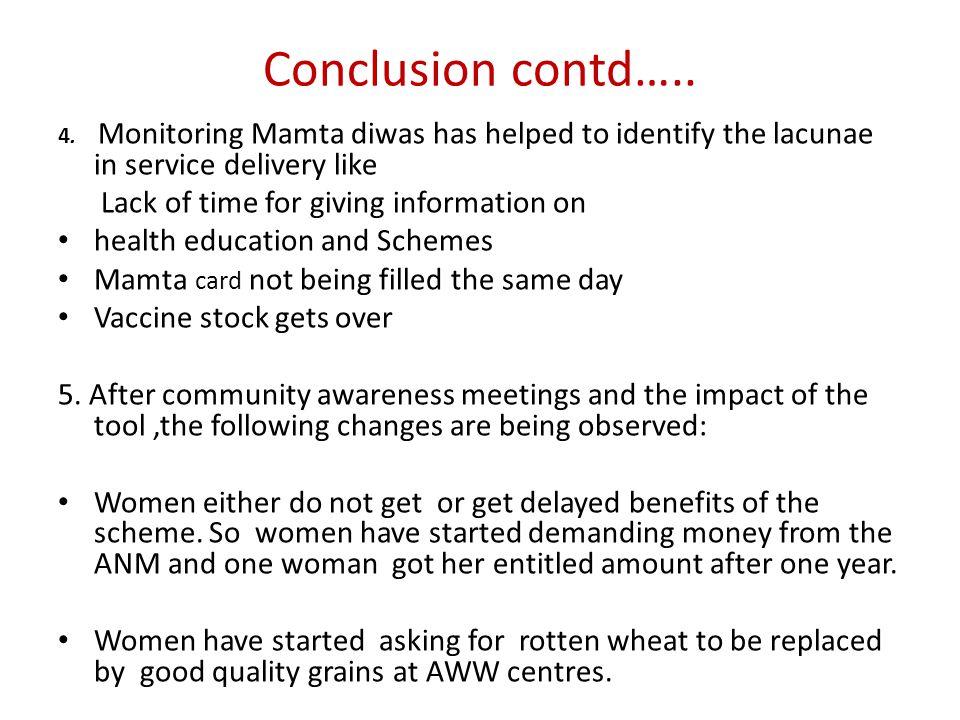 Conclusion contd….. 4.