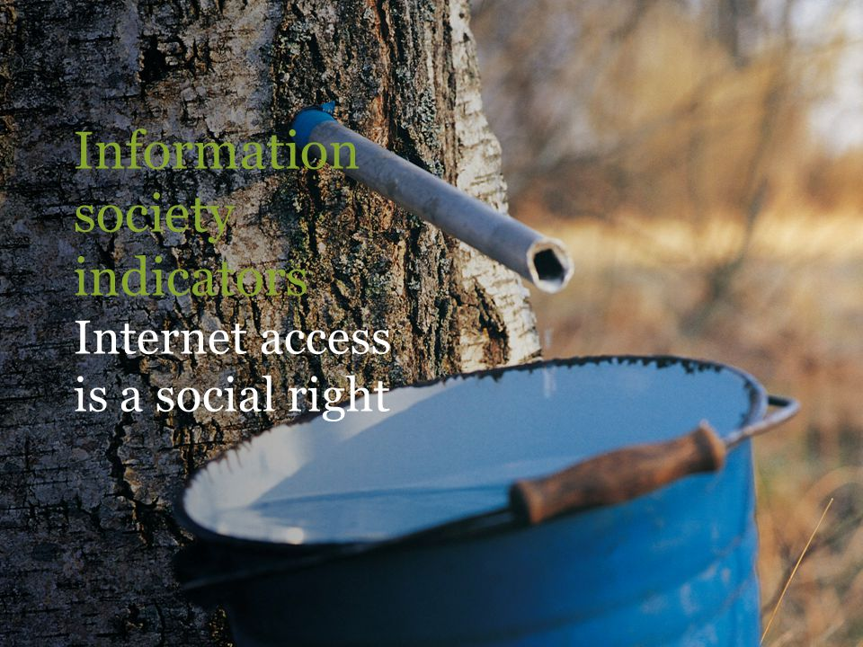 Information society indicators Internet access is a social right
