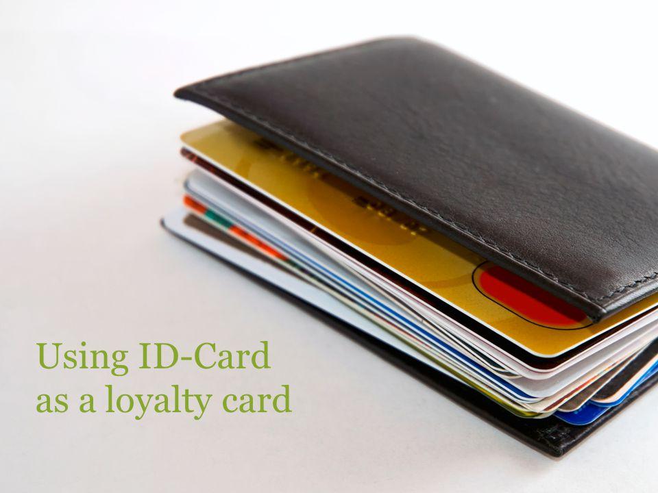 Using ID-Card as a loyalty card