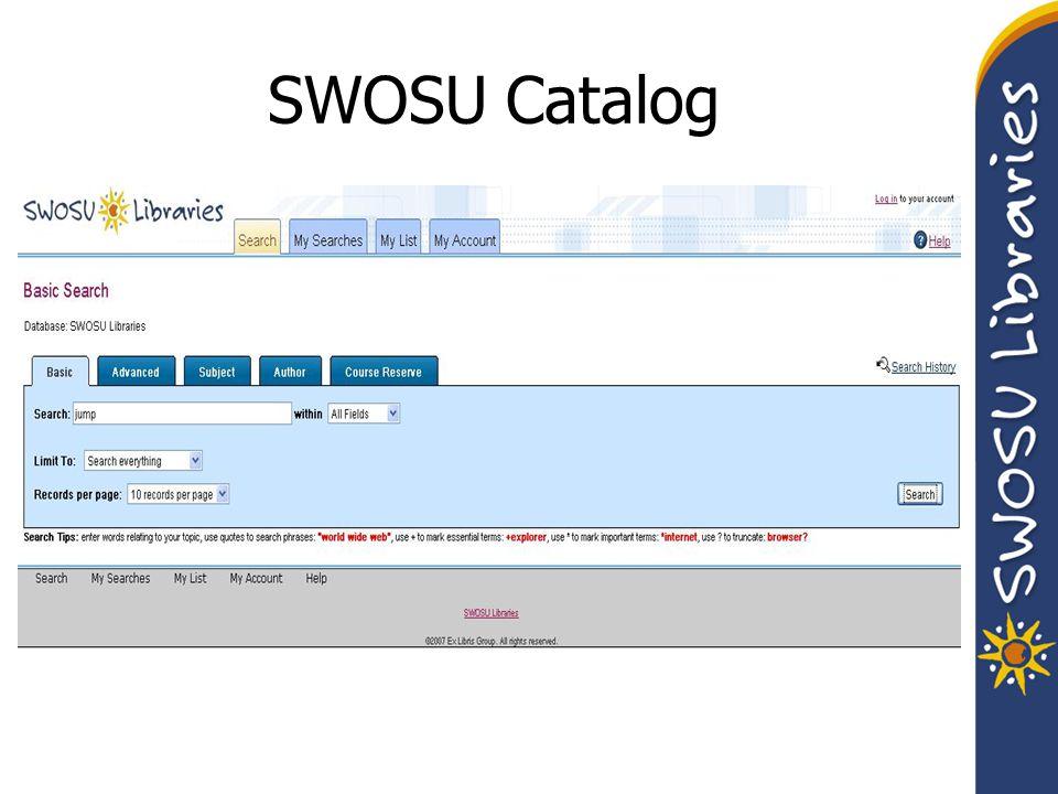 SWOSU Catalog