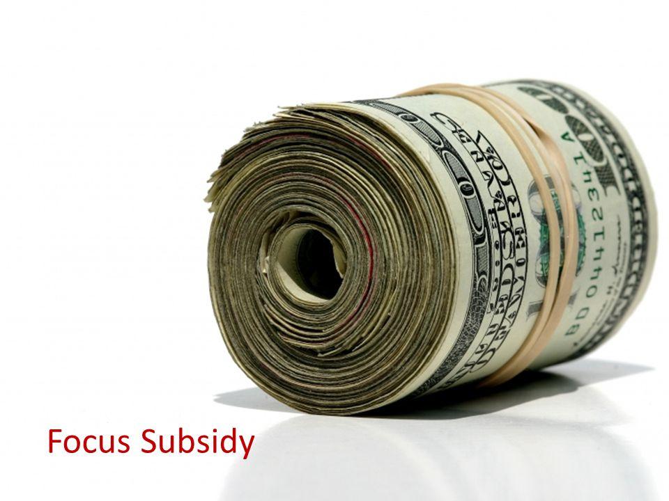 18 Focus Subsidy