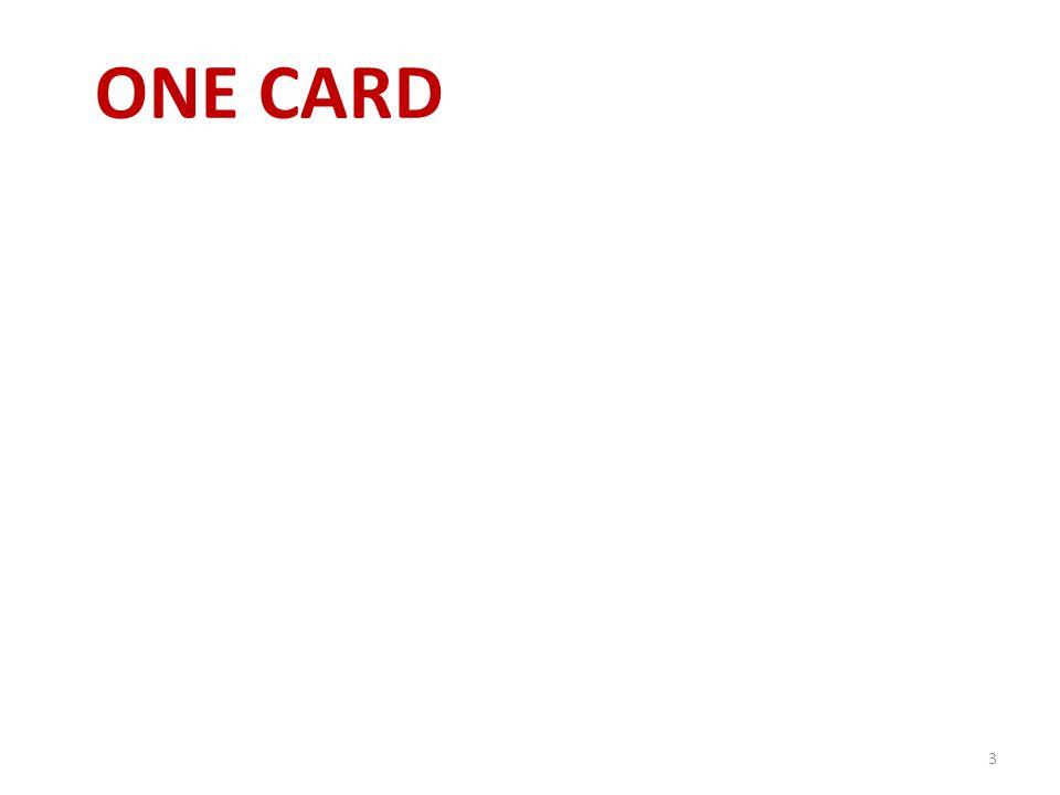 ONE CARD 3