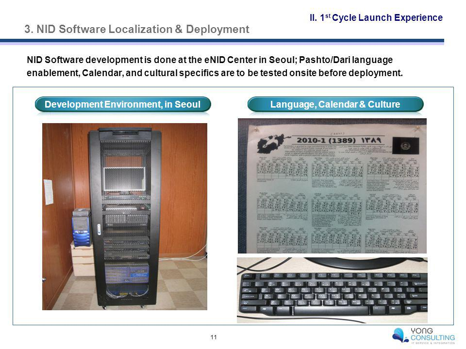 3. NID Software Localization & Deployment 11 II.