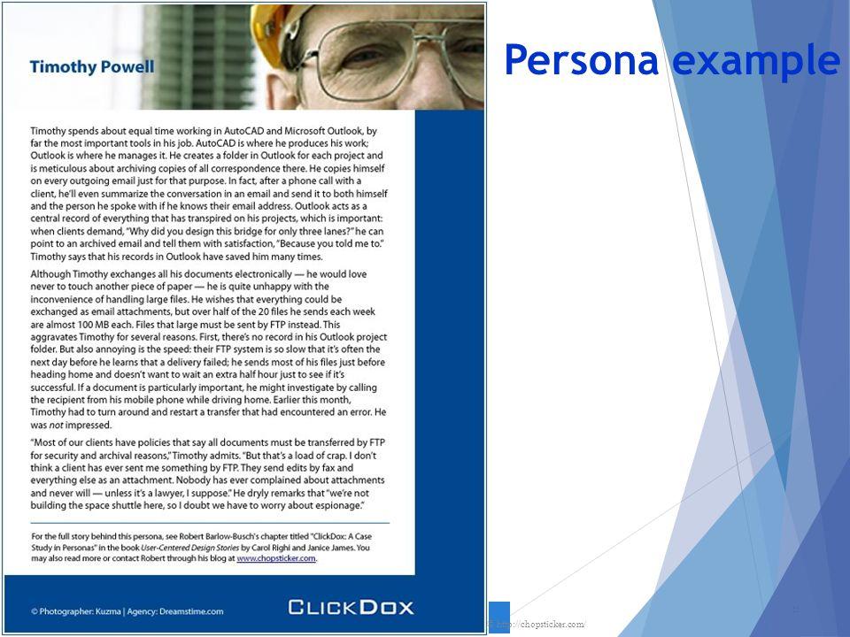 Persona example 21 © http://chopsticker.com/