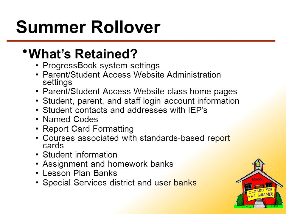 Summer Rollover Whats Retained.