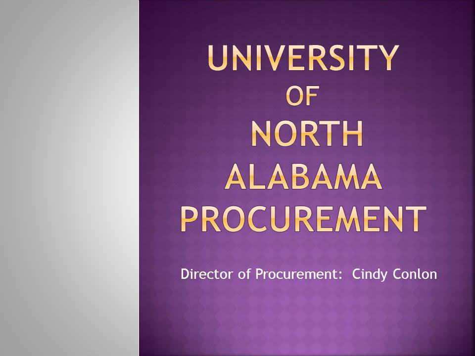 Director of Procurement: Cindy Conlon