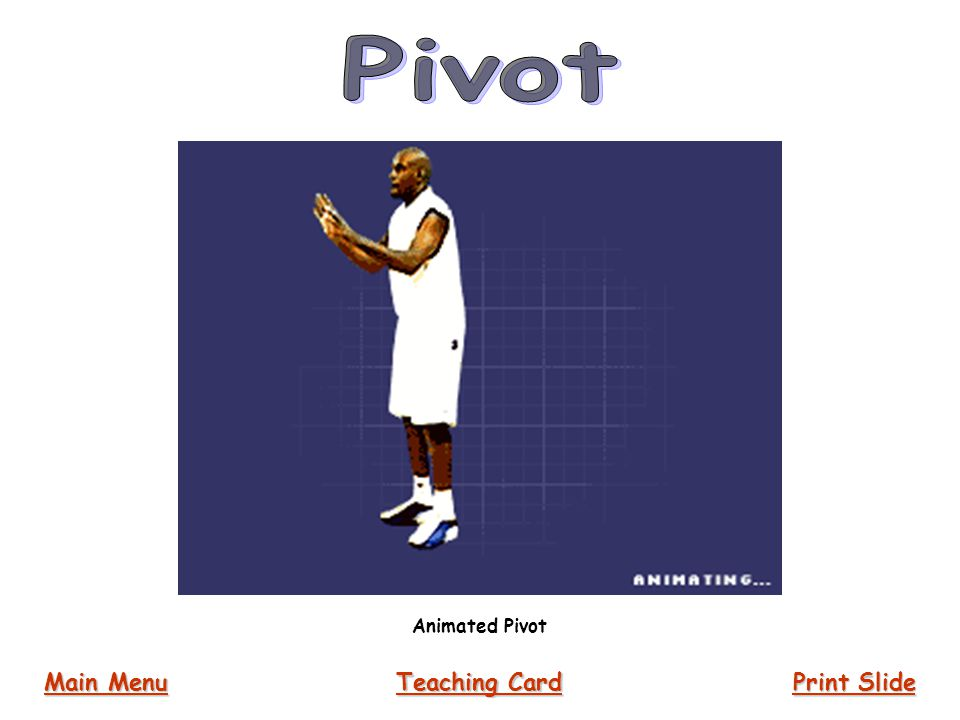 Animated Pivot Main Menu Main Menu Print Slide Print Slide Teaching Card Teaching Card