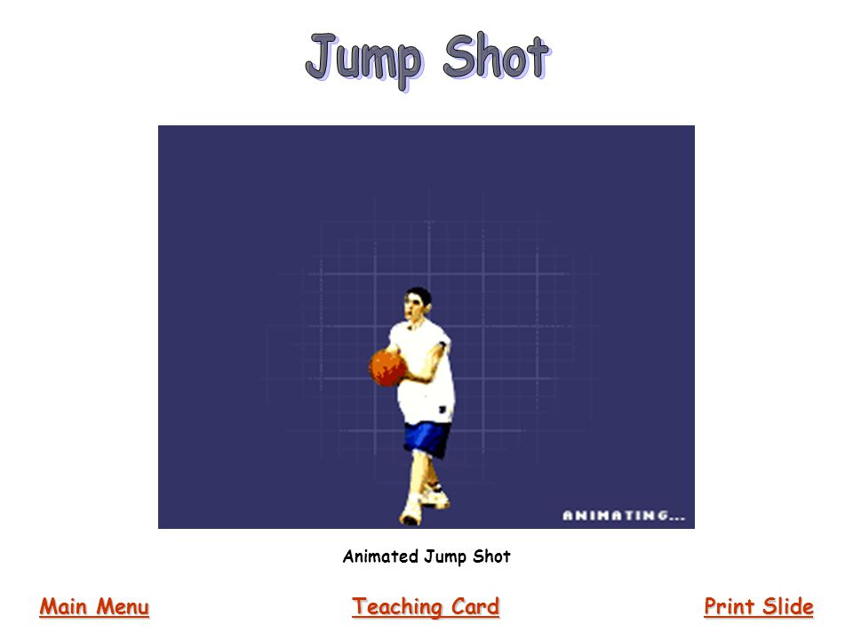 Animated Jump Shot Main Menu Main Menu Print Slide Print Slide Teaching Card Teaching Card