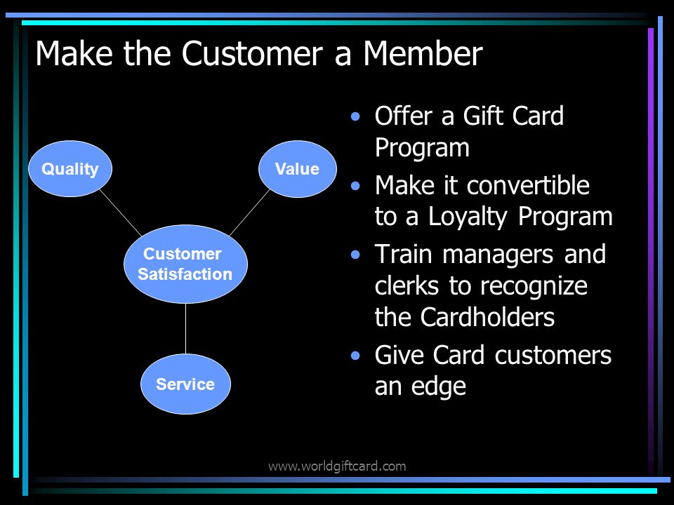www.worldgiftcard.com Would you like: More Customers, Repeat Customers, Customers who spend more.