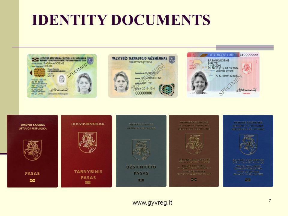 7 IDENTITY DOCUMENTS www.gyvreg.lt