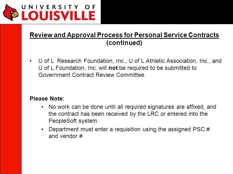 U of L Research Foundation, Inc., U of L Athletic Association, Inc., and U of L Foundation, Inc.