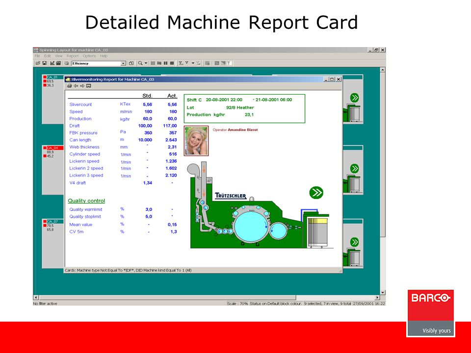 Detailed Machine Report Card