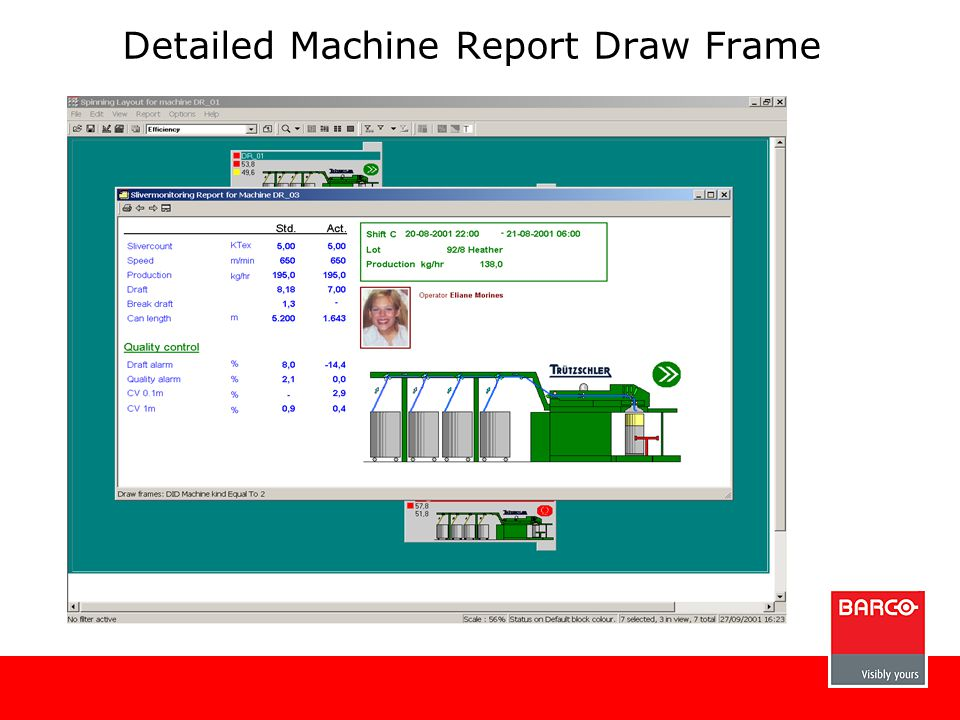Detailed Machine Report Draw Frame