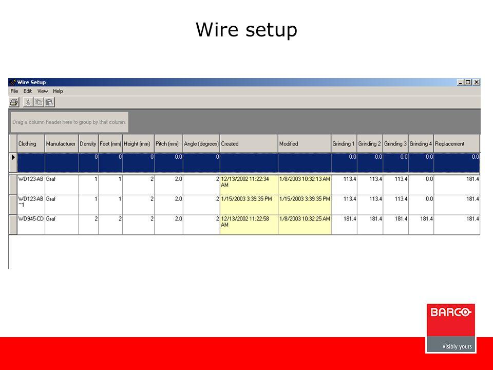 Wire setup