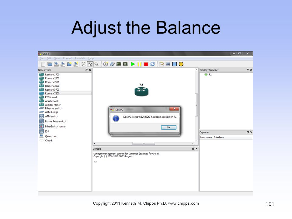 Adjust the Balance Copyright 2011 Kenneth M. Chipps Ph.D. www.chipps.com 101