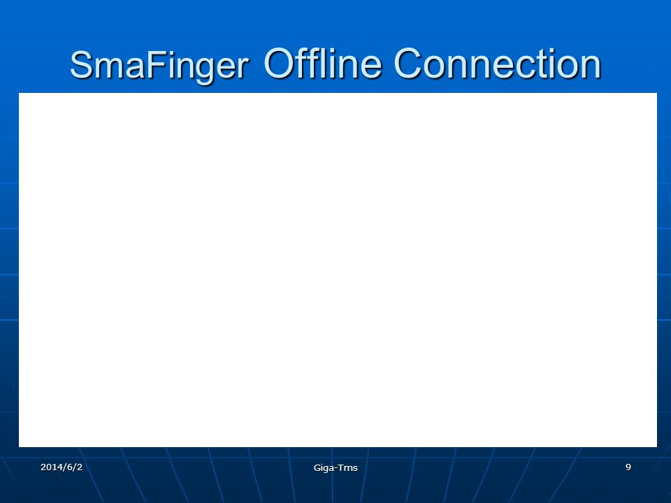 2014/6/2 Giga-Tms 19 Greetings We welcome you to the world wide fraternity of satisfied and growing SmaFinger customers.