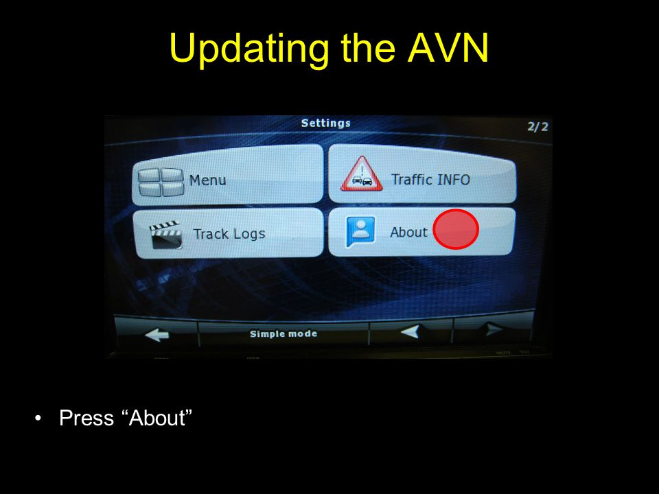 Press About Updating the AVN