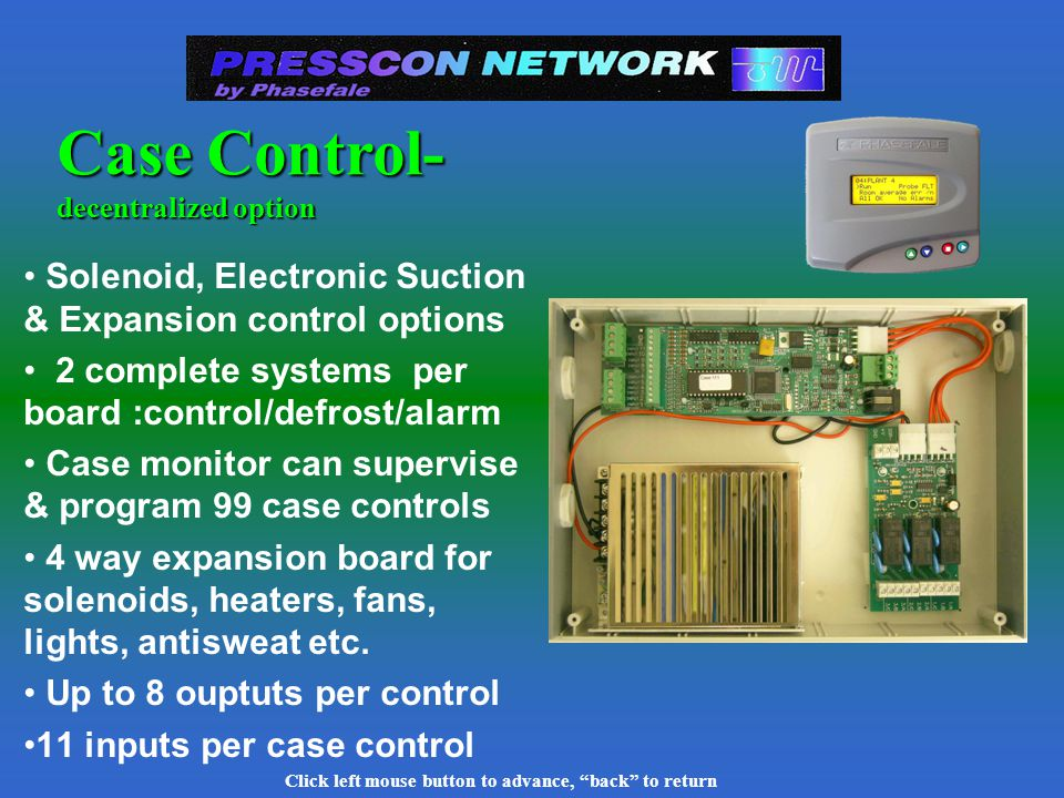 Click left mouse button to advance, back to return Sensor Input Cards 32 Channels input cards First 8 channels used for pressure trans- ducers & all input types 32 channel for temperature & switch inputs - more cost effective & compact both have 10 bit precision pluggable connectors
