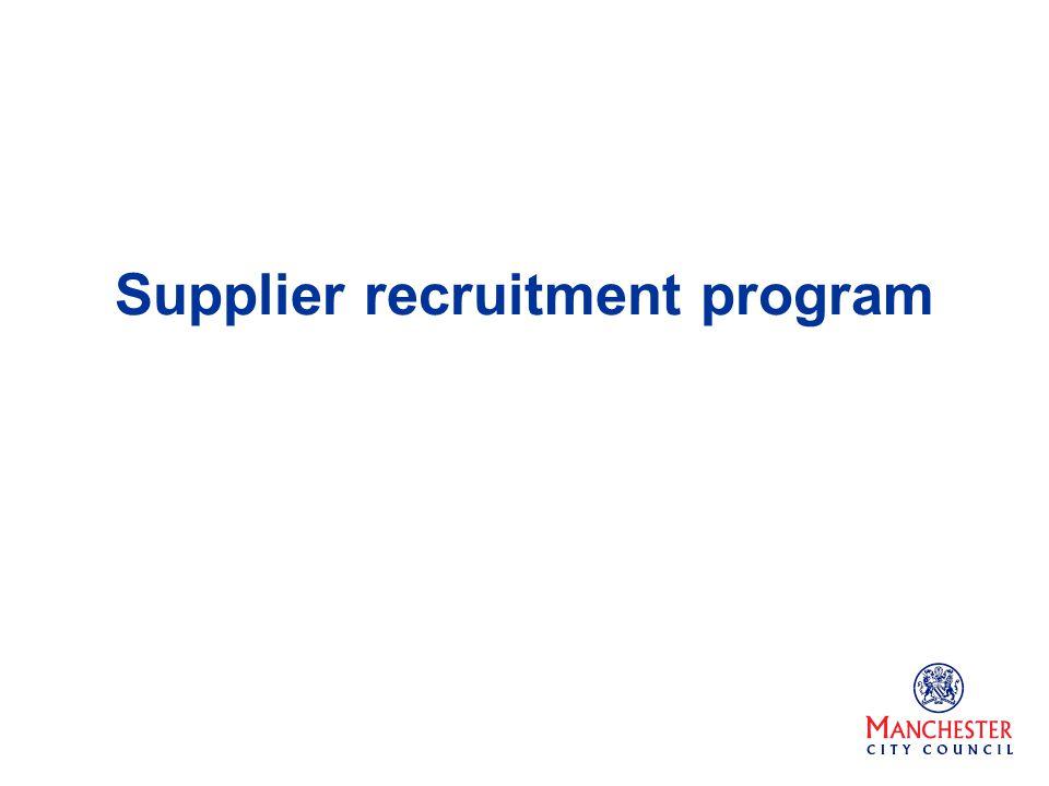 Supplier recruitment program