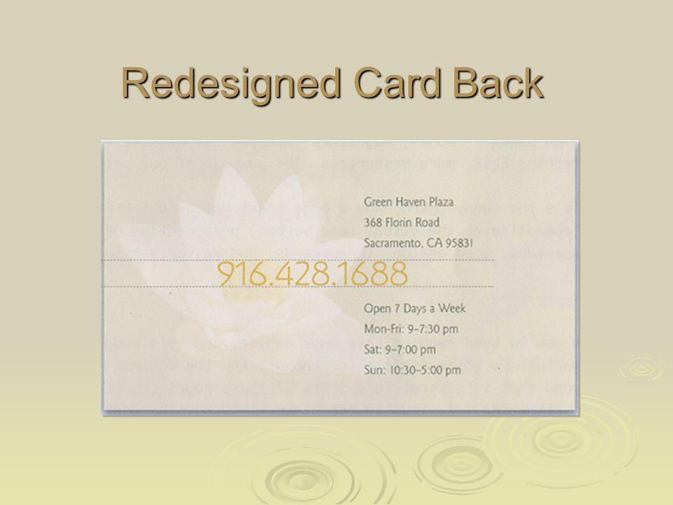 Redesigned Card Back